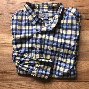 J. Crew Yellow/Purple Plaid Shirt XL